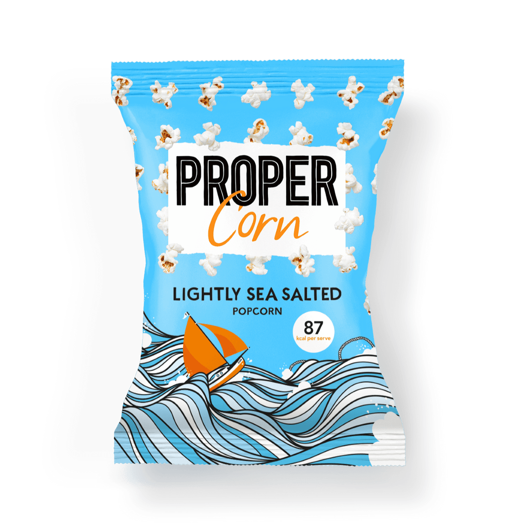 PROPER PROPERCORN Lightly Sea Salted Sharing Popcorn, 70g - Single - Mighty Small