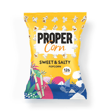 Load image into Gallery viewer, PROPER PROPERCORN Sweet + Salty Sharing Popcorn, 90g - Single - Mighty Small