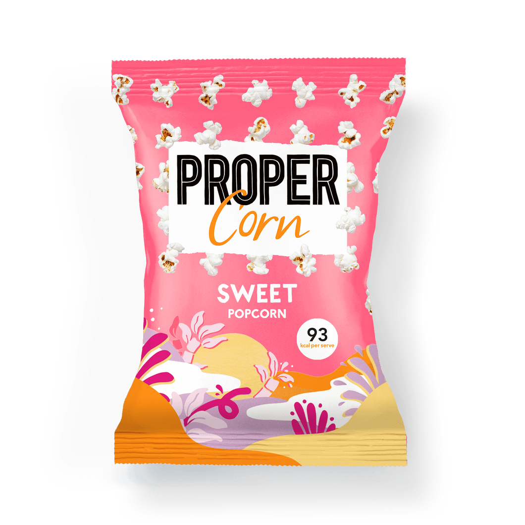 PROPER PROPERCORN Sweet Sharing Popcorn, 90g - Single - Mighty Small