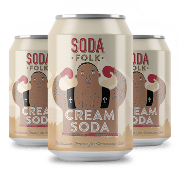 Soda Folk Cream Soda, 330ml - - Mighty Small