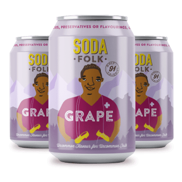 Soda Folk Grape Soda, 330ml - - Mighty Small