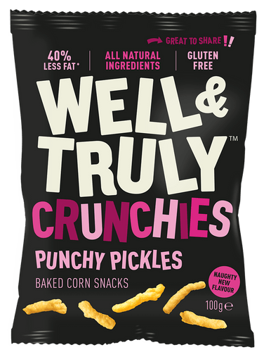 Well&Truly Punchy Pickle Crunchy Corn Snacks, 100g - Single - Mighty Small