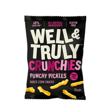 Load image into Gallery viewer, Well&Truly Punchy Pickle Crunchy Corn Snacks, 30g - Single - Mighty Small