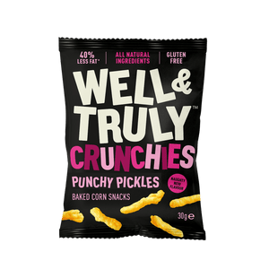 Well&Truly Punchy Pickle Crunchy Corn Snacks, 30g - Single - Mighty Small