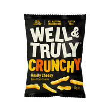 Load image into Gallery viewer, Well&Truly Really Cheesy Crunchy Corn Snacks, 30g - - Mighty Small