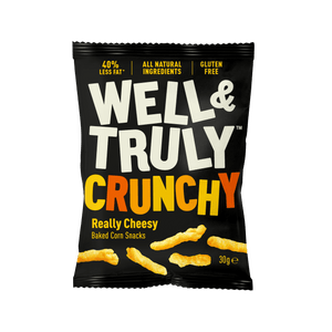 Well&Truly Really Cheesy Crunchy Corn Snacks, 30g - - Mighty Small