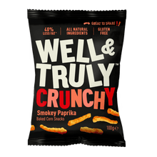 Load image into Gallery viewer, Well&Truly Smokey Paprika Crunchy Corn Snacks, 100g - - Mighty Small