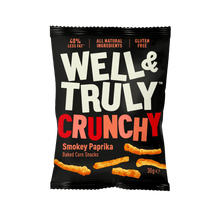Load image into Gallery viewer, Well&Truly Smokey Paprika Crunchy Corn Snacks, 30g - - Mighty Small