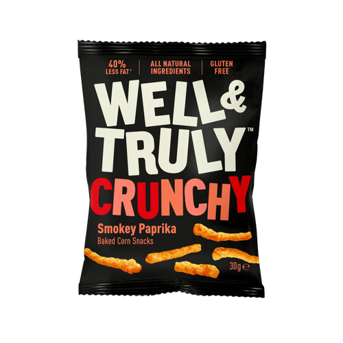 Well&Truly Smokey Paprika Crunchy Corn Snacks, 30g - - Mighty Small
