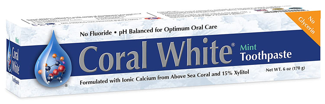 Coral White Mint Remineralizing Toothpaste 6 oz - CalciumSupreme.com