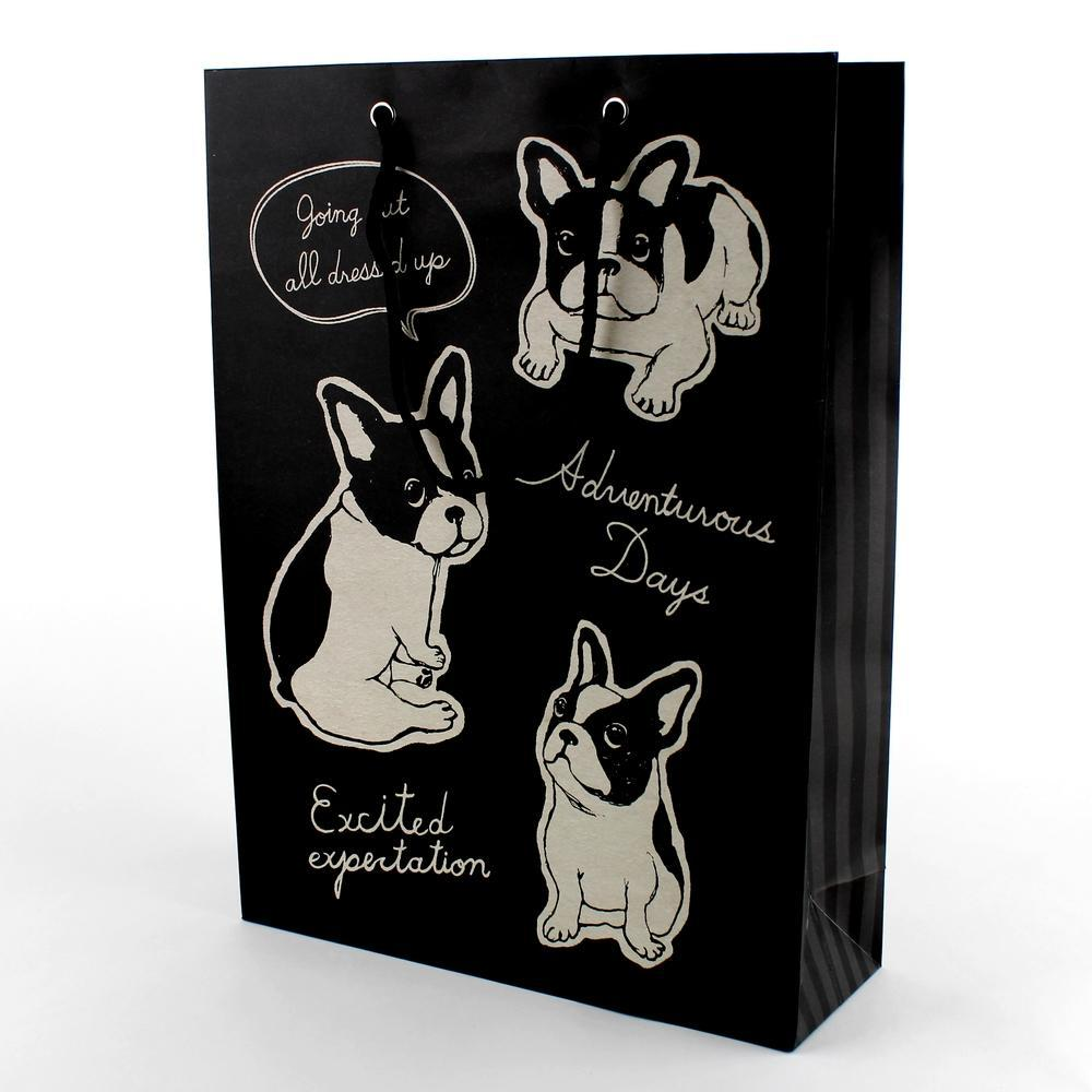 Gift Bag (Paper/Dogs*2-Types/36x26x9cm)