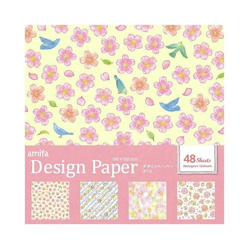 Origami Paper (Flowers*4-Types/4xCol/15x15cm (48sheets))