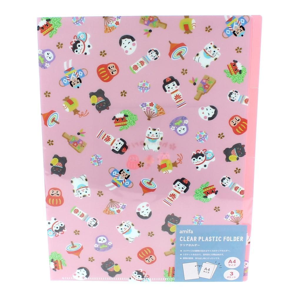 Folder (PP/A4/3 Pockets/Traditional Items/Chinese Zodiac Signs)