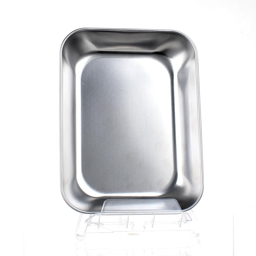 Food Prep Tray (Stainless Steel/SL/18.5x14x2.7cm)
