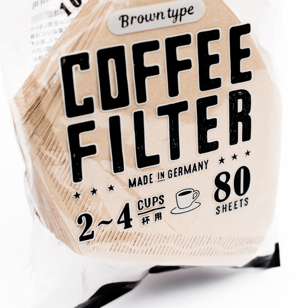 Coffee Filters (2-4 Cups/Brown/16x10.5cm (80pcs))