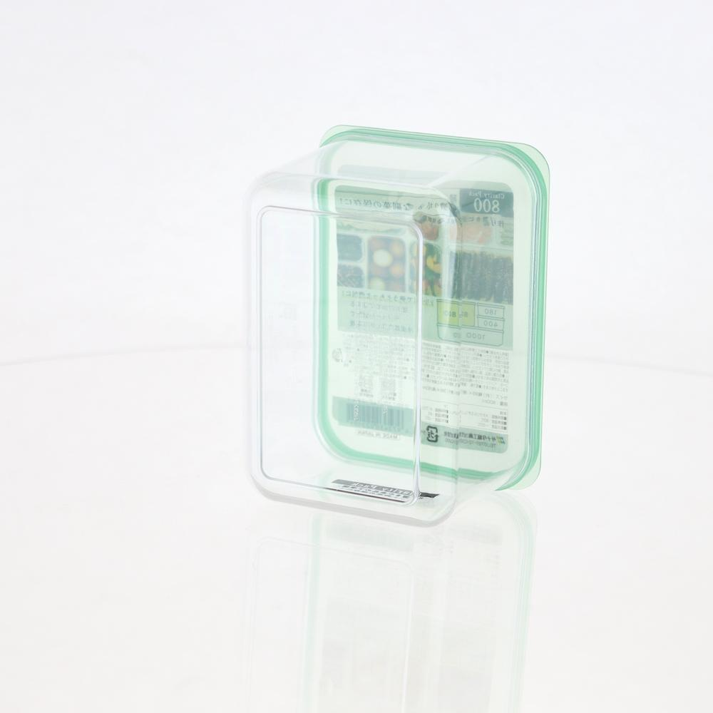 Plastic Container - 800mL (CL/GN/9.9x13.8x8cm / 800mL)