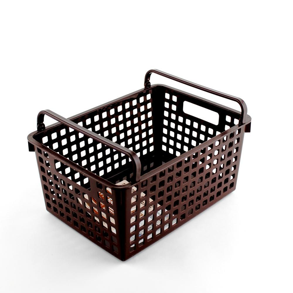 Basket - Stackable (w/Handle/BN/19x26x13cm)
