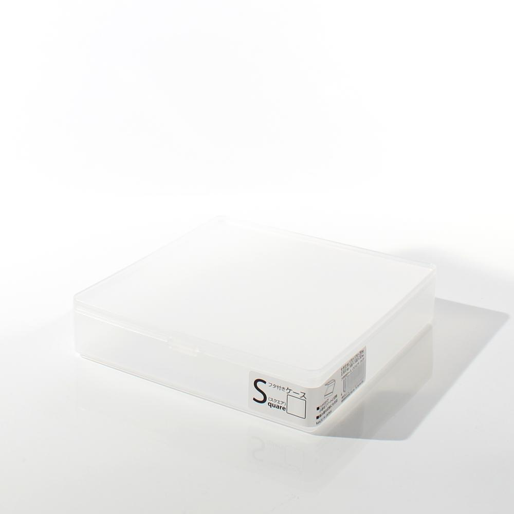 Storage Box (w/Lid/Square/CL/17x17.4x3.9cm)