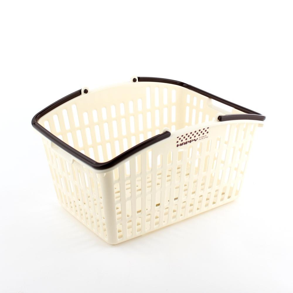 Basket w/ Handle (w/Handle/BE/24.8x18.8x14.1cm)
