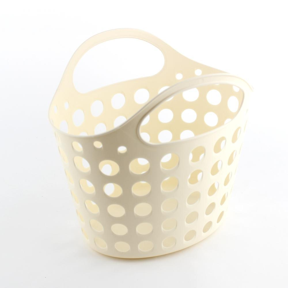 Basket-w/Handle (w/Handle/BE/24.1x20.3x22.5cm)