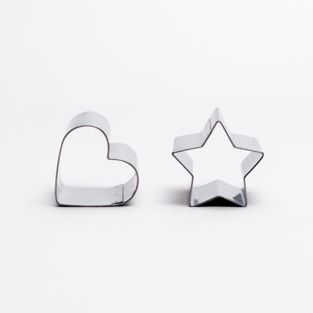 Fancy Cookie Cutter (Star & Heart 2pcs)
