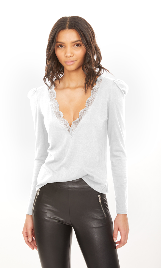 Geo Lace Neck Top