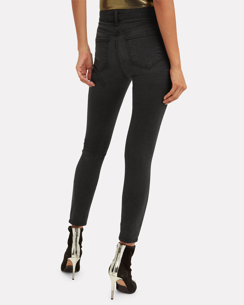 Margot High-Rise Distressed Skinny Jean Coal Destruct