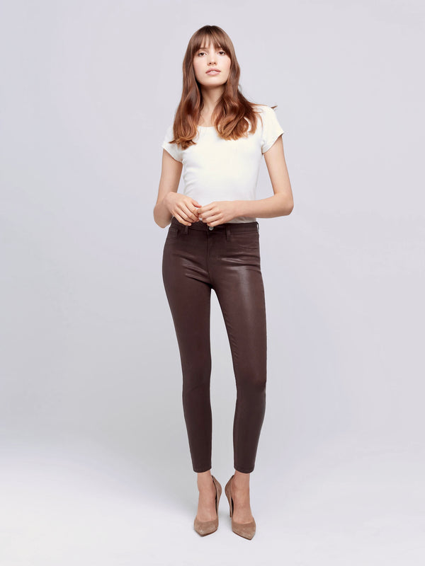 Marguerite Cocoa Coated H/R Skinny Jean