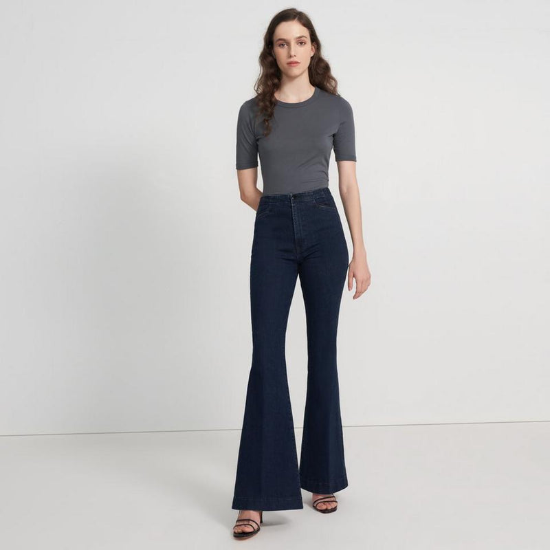 Darted High rise Trouser Flare