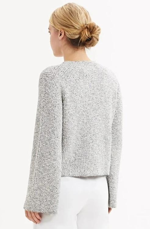 Mira Mock Neck Metallic Sweater