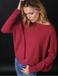 Cashmere Cropped Boyfriend  Sweater