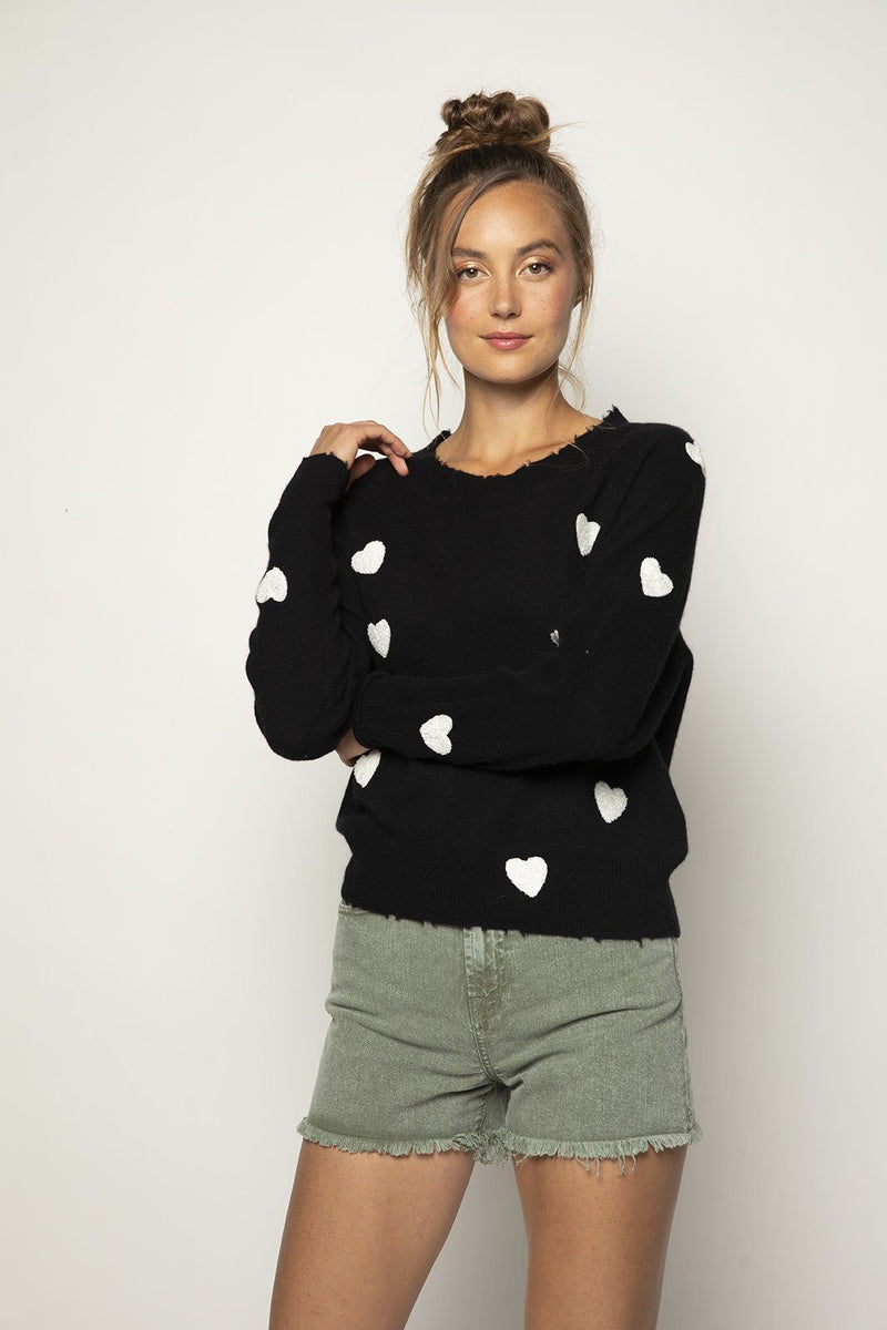 Carmen Embroidered Heart Top
