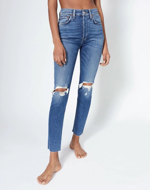 90s High-Rise Ankle Crop Jean
