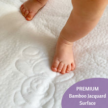 Load image into Gallery viewer, Bamboo Jacquard Cot Bed Mattress Protector 70x140cm