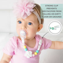 Load image into Gallery viewer, Silicone Pacifier Clip and Teether Holder Set