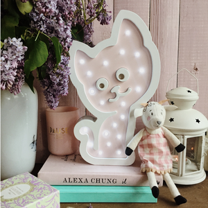 Cat Nursery Decor Night Light