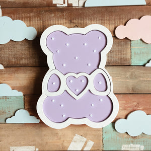 Teddy Bear Nursery Decor Night Light