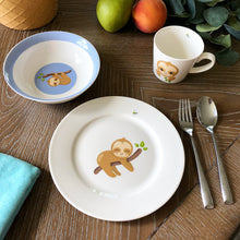 Load image into Gallery viewer, 3 Piece Kids Ceramic Dinnerware Set - Sloth