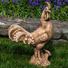 Load image into Gallery viewer, Garden Art - Cast Stone - Antique Rooster