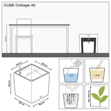 Load image into Gallery viewer, Lechuza Self-Watering Cube Cottage-40