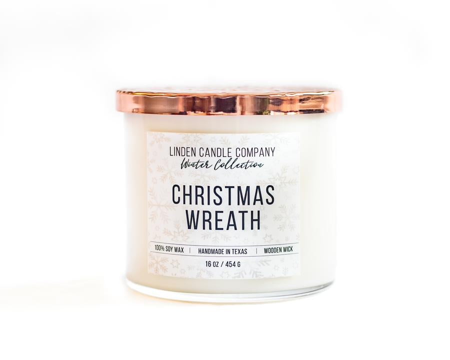 Candle - Natural Soy, Christmas Wreath