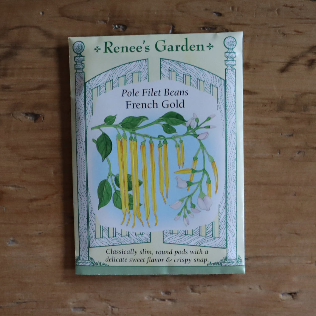Seed Packet - Vegetable - Bean, Pole - French Gold Filet