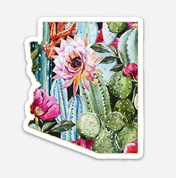 Arizona cactus sticker