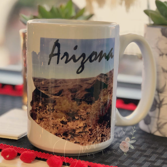 Arizona picture mug