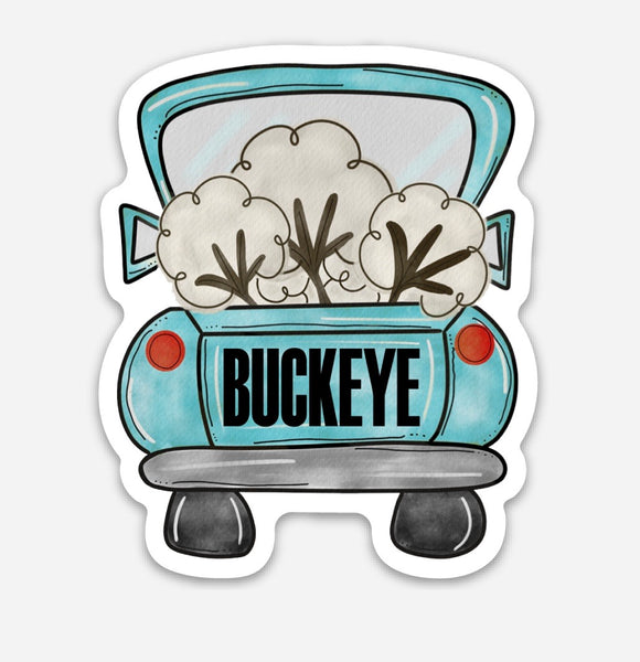 Buckeye cotton truck sticker