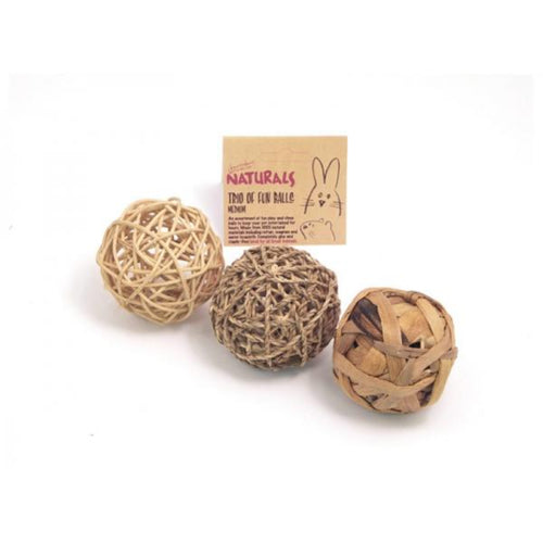 Rosewood Naturals Trio of Fun Balls Boredom Breaker