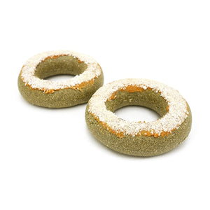 gnawable donut shaped treats for rabbits and small animals