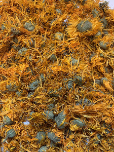 Marigold Flowers for rabbits to forage as a healthy treat