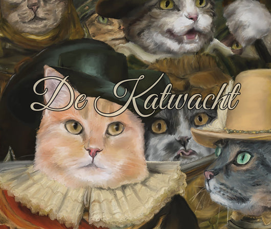 This is a process video of the painting process from the Cat Watch or in original Dutch De Katwacht