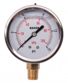 Side oil pressure gauge for swimming pool